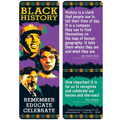 Black History Month Bookmark | Care Promotions