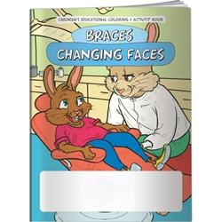 Braces Changing Faces Coloring Book Braces Changing Faces Coloring Book, BetterLifeLine, BetterLife, Education, Educational, information, Informational, Wellness, Guide, Brochure, Paper, Low-cost, Low-Price, Cheap, Instruction, Instructional, Booklet, Small, Reference, Interactive, Learn, Learning, Read, Reading, Health, Well-Being, Living, Awareness, ColoringBook, ActivityBook, Activity, Crayon, Maze, Word, Search, Scramble, Entertain, Educate, Activities, Schools, Lessons, Kid, Child, Children, Story, Storyline, Stories, Teeth, Smile, Ortho, Braces, Cavity, Imprinted, Personalized, Promotional, with name on it, Giveaway,