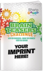 Brain Teasers Challenge Puzzle Book brain teasers puzzles, brain teasers puzzle book, promotional games, promotional puzzles, seniors promotions