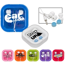 Brightly Colored Ear Buds Ear buds, tech gifts, promotional ear buds, tech accessories, custom ear buds, smartphone ear buds, earbuds