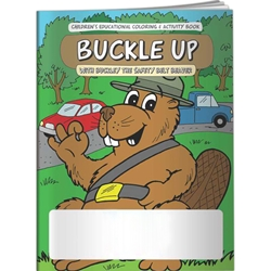 Buckle Up with Buckley the Safety Belt Beaver Coloring Book Buckle Up with Buckley the Safety Belt Beaver Coloring Book, BetterLifeLine, BetterLife, Education, Educational, information, Informational, Wellness, Guide, Brochure, Paper, Low-cost, Low-Price, Cheap, Instruction, Instructional, Booklet, Small, Reference, Interactive, Learn, Learning, Read, Reading, Health, Well-Being, Living, Awareness, ColoringBook, ActivityBook, Activity, Crayon, Maze, Word, Search, Scramble, Entertain, Educate, Activities, Schools, Lessons, Kid, Child, Children, Story, Storyline, Stories, Seatbelt, Seat Belt, Car, Driving, Passenger, Preschool, Grade School, Elementary, Imprinted, Personalized, Promotional, with name on it, Giveaway,
