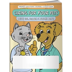 Caring For Your Pets with Dr. Dawg and Nurse Katz Coloring Book Caring For Your Pets with Dr. Dawg and Nurse Katz Coloring Book,BetterLifeLine, BetterLife, Education, Educational, information, Informational, Wellness, Guide, Brochure, Paper, Low-cost, Low-Price, Cheap, Instruction, Instructional, Booklet, Small, Reference, Interactive, Learn, Learning, Read, Reading, Health, Well-Being, Living, Awareness, ColoringBook, ActivityBook, Activity, Crayon, Maze, Word, Search, Scramble, Entertain, Educate, Activities, Schools, Lessons, Kid, Child, Children, Story, Storyline, Stories,Imprinted, Personalized, Promotional, with name on it, Giveaway,