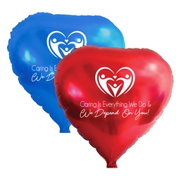 """Caring Is Everything We Do & We Depend On You!"" 11"" inch Crystal Latex Balloons (Pack of 60 assorted) Nursing Home Week, National, Skilled Nursing Heathcare, Week, Theme, Latex balloons, party goods, decorations, celebrations, round shaped balloons, promotional balloons, custom balloons, imprinted balloons"