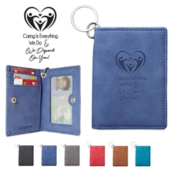 """Caring Is Everything We Do & We Depend On You!"" Leeman™ Nuba ID Wallet   Nurses, Week, Appreciation, Recognition, Employee Appreciation, Employee Recognition Wallet, Appreciation, Key Tag Wallet, business gifts, corporate holiday gifts, custom Key Tag phone wallet, custom printed Key Tag wallet, customized key tag wallet, promotional wallet key tag, Key Tag Wallet promotional products, employee appreciation gifts, recognition gifts, custom logo thank you gifts"