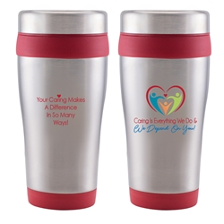 """Caring Is Everything We Do & We Depend On You!"" Legend 16 oz. Stainless Steel Tumbler   Caring Team theme Tumbler, Nurses theme Tumbler, Healthcare theme Tumbler, 16 oz, Tumbler, Stainless Steal, Tumbler, 4 Color Process, Imprinted, Personalized, Promotional, with name on it"