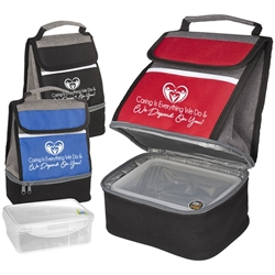 """Caring Is Everything We Do & We Depend On You!"" Replenish Store N Carry Lunch Box   Healthcare theme Lunch Cooler gift set, with, Lunch Plate, lunch plate cooler, lunch bag plate set,  personalized, with logo, imprinted"