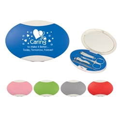 Caring To Make It Better...Today, Tomorrow, Forever! Reflections Manicure Set   Reflections Manicure Set, Caring Team, Healthcare, Design, Theme, Slogan, Reflections, Manicure, Set, Awareness, incentives, gift idea, Imprinted, Personalized, Promotional, with name on it, Giveaway,