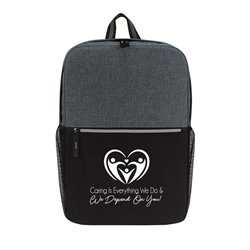 """Caring is Everything We Do & We Depend On You"" Classic 15"" Computer Backpack  Healthcare Appreciation, Laptop Backpack, Backpack, Imprinted, Travel, Custom, Personalized, Bag"