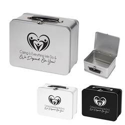 """Caring is Everything We Do & We Depend On You!"" Throwback Tin Lunch Box Nurses, Week, Appreciation, Appreciation Day, Lunch Tin, Retro, Lunch Box, Imprinted, Personalized, Promotional, with name on it, Gift Idea, Giveaway, novelty pen, promotional pen, fidget spinner pen"