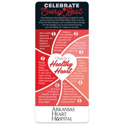 Celebrate Every Beat: 7 Steps To A Healthy Heart EZ 2-Stick Glancer Heart Health Tips, Health Heart Tips, Heart, Smart, E-Z Stick Glancer, Positive Promotions, The Positive Line