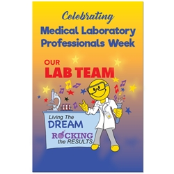 "Celebrating Medical Laboratory Week Rocking The Results Theme 11 x 17"" Posters (Sold in Packs of 10)  Poster, Celebration Poster, Medical Laboratory Professionals Week, Recognition Theme Poster,"