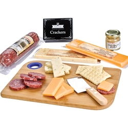 Charcuterie Favorites Meat & Cheese Cutting Board Set | Corporate Holiday Gifts | Care Promotions