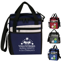 Volunteers: Building Unity In Our Community! Rocket 12 Pack Cooler  Volunteer theme lunch bag, Volunteer week Theme lunch bag, lunch cooler, Rocket, 12 Pack Cooler, Plus, Continental Marketing, Care Promotions, Lunch Bag, Insulated, Barrel, Travel, Employee, Nurses, Teachers, Volunteers, Healthcare, Staff Gifts