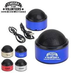 Cheers To Our Volunteers: Sharing, Caring, Outstanding! Sound Dome Bluetooth Speakers    Bluetooth Mini Speakers,  Bluetooth desk speaker, blue tooth mini speaker, imprinted speakers, bluetooth speaker customized, Care Promotions,