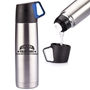 Cheers To Our Volunteers! Sharing, Caring, Outstanding! Stainless Steel Vacuum Bottle (16.5 oz) Stainless Steel Vacuum Bottle, Thermos Style Bottle, Imprinted thermos Bottle, Stainless Steel Thermos,Stainless Steel bottle with logo,