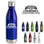 Cheers to Our Volunteers! Sharing, Caring, Outstanding 17oz. Vacuum Insulated Stainless Steel Bottle Vacuum Sealed Bottles, Vacuum Top Bottle, Imprinted Vacuum Sealed Bottles, Stainless Steel Vacuum Sealed bottle, Care Promotions,