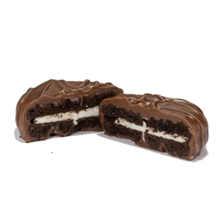 Chocolate Covered Sandwich Cookie, Individually Wrapped chocolate covered oreos, chocolate covered sandwich cookies, promotional cookies, promotional food gifts, Appreciation Gifts, Custom Business Gifts, Thank You Gifts, Employee Appreciation, Employee Recognition, Rewards and Incentives, Recognition Program, Holiday Sweets