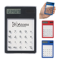 Clear Solar Calculator Clear Solar Calculator, Clear, Solar, Calculator, Eco-Friendly, Sun, Powered, Imprinted, Personalized, Promotional, with name on it, giveaway,