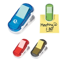 Clip With Sticky Flags Clip With Sticky Flags, Clip, with, Sticky, Flags, Imprinted, Personalized, Promotional, with name on it, giveaway,