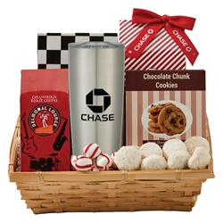 Coffee & Cookie Basket with 20 oz Himalayan Tumbler | Care Promotions