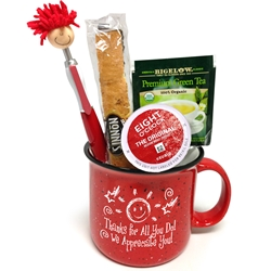 Coffee, Tea, A Treat & A Smile! Appreciation Campfire Mug Campfire Mug,  Recognition, Appreciation, Holiday, Appreciation, Gift Set, Team, Staff, Gifts, Appreciation, Care, Nurses, Volunteers, Team, Healthcare, Teachers, Staff, Housekeepers, Environmental Services, Incentives, Holiday Gift Ideas,