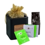 Coffee & Tea Desk Caddy Gift Set holiday gifts, holiday food gifts, corporate holiday gifts, gift sets, tea gifts, employee appreciation, employee recognition, holiday parties, coffee gifts, logo desk caddy set, office supplies