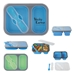 Collapsible 2-Section Food Container With Dual Utensil - KCH015