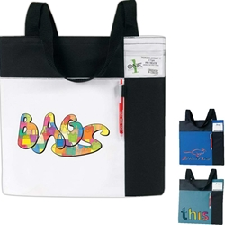 Color Block ID Convention Tote Color Block, ID, Convention, Promotional, Tote, Polyester, Meeting, Promotional Events, Trade Show, Health Fair, Imprinted, Reusable