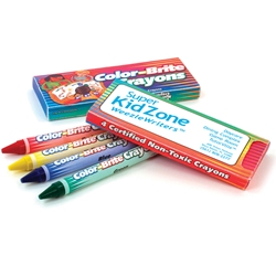 Color-Brite Crayons 4 Pack crayons, promotional crayons, promotional school supplies, back to school, school promotions, fire safety promotional items, promotional giveaways