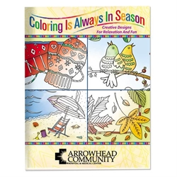 Coloring is Always in Season Adult Coloring Book Coloring Books for Adults, Stress Relief, Adult Coloring Books, promotional coloring books
