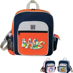 Contemporary Kids Backpack All Purpose, Contemporary, Kids, Starter, Pack, Sling, Backpack, Promotional, Imprinted, Polyester, Gift, Organizer