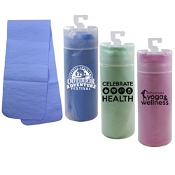 Cooling Towel with Tube Cooling Towel, Cooling Towels Bulk, Cooling towel tube, Cooling towel with logo, imprinted cooling towel, promotional products, employee appreciation, employee recognition, smiley face