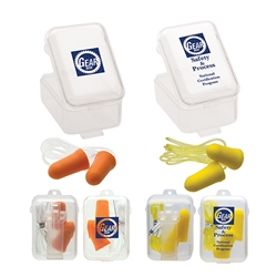 Corded Foam Earplugs & Case | Care Promotions