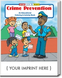 Crime Prevention Coloring & Activity Book | Promotional Coloring Books | Care Promotions