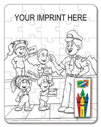 Crime Prevention Coloring Puzzle Set | Care Promotions