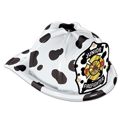 Custom Shield Dalmatian Plastic Fire Hat | Care Promotions