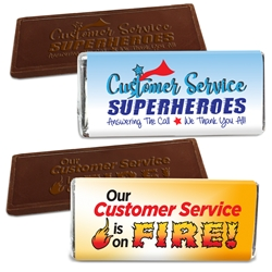 Customer Service Appreciation Theme Wrapped 1.75 oz Chocolate Bar  Chocolate Bar, Customer Service theme, Chocolate Bars, Appreciation Gifts, Custom Business Gifts, Thank You Gifts, Employee Appreciation, Employee Recognition, Rewards and Incentives, Recognition Program, Awareness Treats, Sweet Rewards