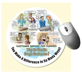 Customer Service Fun Funnies Mouse Pad  Customer Service Theme, Mouse Pad,