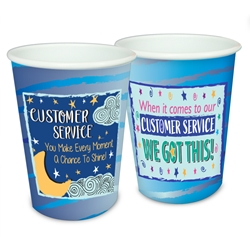 Customer Service Multi Theme Appreciation 17 oz Reusable Plastic Cups    Customer Service Week, Theme Party Cup, CSR, Theme, Customer Service Theme Cup, Recognition, Cups, Plastic Appreciation Cups, Nursing Team Theme Cups, Plastic Party Appreciation Cups, Promotional,