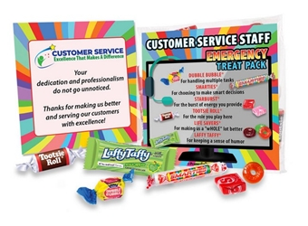 Customer Service Staff Emergency Treat Pack Customer Service, staff, survival, kit, CSR, CSRs, Service Team, emergency, treat, pack, employee recognition Treat, employee appreciation treat, Employee Treat Giveaway, Employee Appreciation Candy Kit