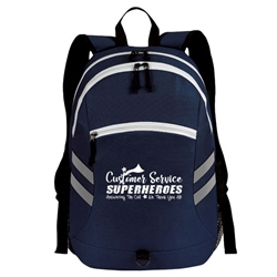 """Customer Service: Superheroes Answering The Call, We Thank You All!"" Balance Laptop Backpack   Customer Service, Week, CSRs, CSR, Theme, Week, Gifts, Laptop Backpack, Backpack, Imprinted, Travel, Custom, Personalized, Bag"
