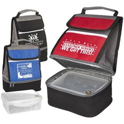 Customer Service Week Theme Replenish Store N Carry Lunch Box  Customer Service theme, Lunch Cooler, gift set, with, Lunch Plate, lunch plate cooler, lunch bag plate set,  personalized, with logo, imprinted