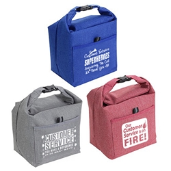 Customer Service Week Themes Roll Top Buckle Insulated Lunch Totes   Customer Service, Theme, CSRs, CSR, promotional cooler bags, promotional lunch bag, employee appreciation gifts, custom printed lunch cooler, customized lunch bag, business gifts, corporate gifts