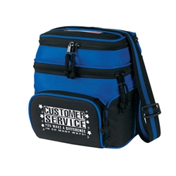 Customer Service: You Make A Difference In So Many Ways! Deluxe Chill Insulated 6 Pack Cooler Chill insulated 6 pack cooler,  Lunch Bag, Insulated Cooler, 8 pack cooler, 6 pack cooler, All Purpose, Elite, Zip, Polyester, Promotional Events, Trade Show Bags, Health Fair, Imprinted, Tote, Reusable, Recognition, Travel , imprinted