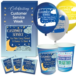 """Customer Service: You Make Every Moment A Chance to Shine!"" Celebration Party Pack  Customer Service, CSR, CSRs, theme, Appreciation decoration pack,  Customer Service Appreciation theme Party Pack, Customer Service, Celebration Pack, CSR Week, Celebration Pack,"