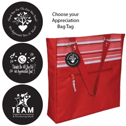 Dallas Tote with Appreciation Bag Tag (Red Stripe)