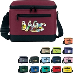 Deluxe 6-Pack Cooler Lunch Cooler, Continental Marketing, Care Promotions, Deluxe, 6-Pack Lunch Cooler, Lunch Bag, Insulated, Barrel, Travel, Employee, Nurses, Teachers, Staff Gifts