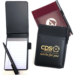 Deluxe Note Jotter with Pen Deluxe Note Jotter with Pen, Note, Jotter, Pen, Vinyl, Microfiber, Imprinted, Personalized, Promotional, with name on it, giveaway