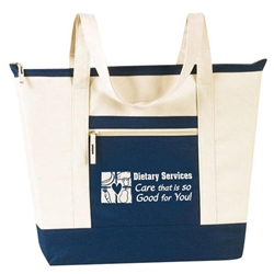 Dietary Services: Care That Is So Good For You! Stock Design Jumbo Zip Tote  All Purpose, Jumbo, Zip, Polyester, dietary services, food services, food service, school, staff, team, recognition, healthcare, Promotional Events, Trade Show Bags, Health Fair, Imprinted, Tote, Reusable, Recognition, Travel
