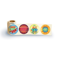 Drug Free Zone Theme Assortment Sticker Roll drug free, safety promotional items, kids safety, anti-drug,red ribbon week, child safety, public safety, community affairs, community outreach